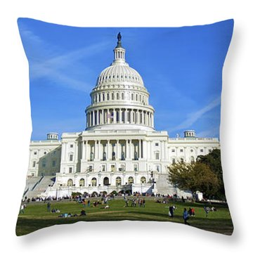 A Capitol View Throw Pillow
