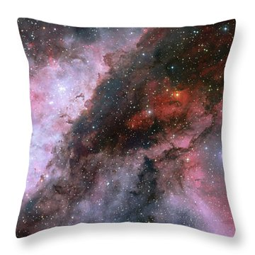 Throw Pillow featuring the photograph A Carina Nebula Pano by Nasa