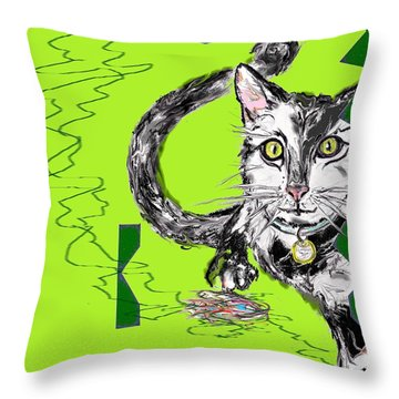 A Cat Throw Pillow
