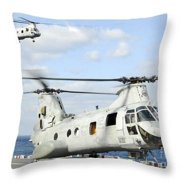 A Ch-46e Sea Knight Helicopter Takes Throw Pillow