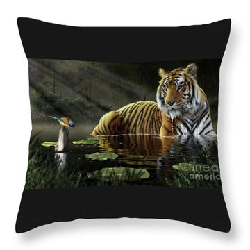 A Chance Encounter Throw Pillow by Don Olea