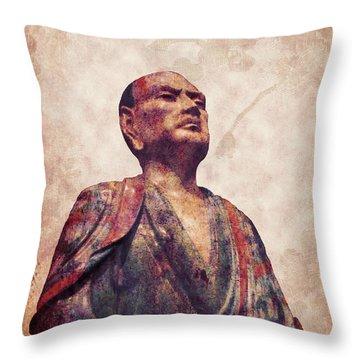 Buddha 5 Throw Pillow by Lynn Sprowl
