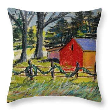 Throw Pillow featuring the painting A Change Of Season by John Williams