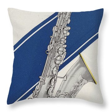 A Charles Gerard Conn Bb Tenor Throw Pillow