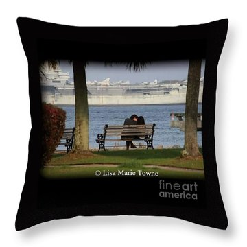 A Charleston Kiss Throw Pillow
