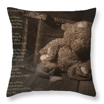A Child Once Loved Me Poem Throw Pillow