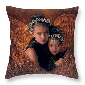 A Child's Angel Throw Pillow