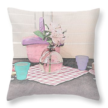 A Childs' Picnic Throw Pillow