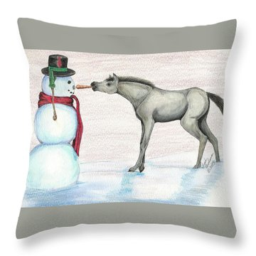 A Christmas Carrot Throw Pillow