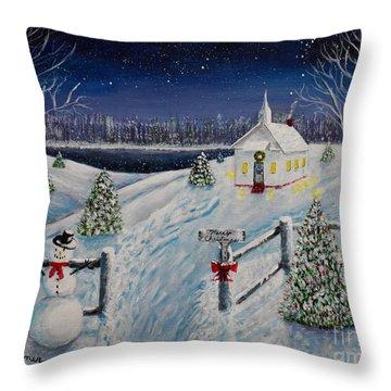 A Christmas Eve Throw Pillow