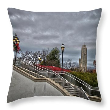 A Christmas View Throw Pillow