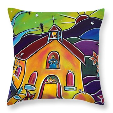 A Church For St. Francis Throw Pillow