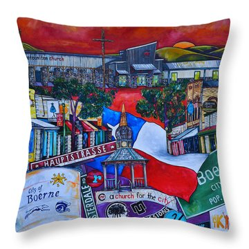 Throw Pillow featuring the painting A Church For The City by Patti Schermerhorn