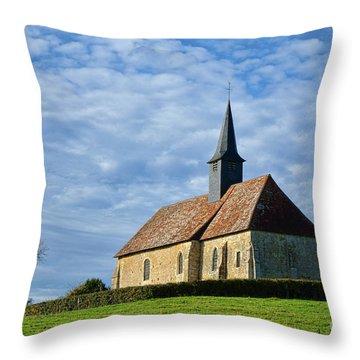 A Church In France Throw Pillow