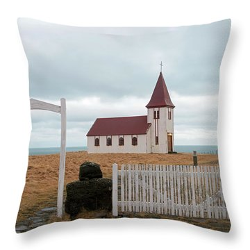 Throw Pillow featuring the photograph A Church With No Fence by Dubi Roman