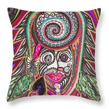A Circle Of Thoughts Throw Pillow