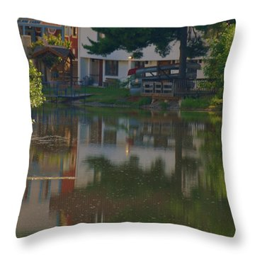Throw Pillow featuring the photograph A Cities Reflection by Ramona Whiteaker