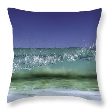 Throw Pillow featuring the photograph A Clean Break by Chris Cousins