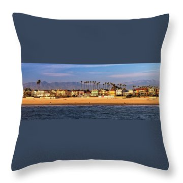 Throw Pillow featuring the photograph A Clear Day At The Beach by James Eddy