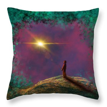 A Clearing Throw Pillow