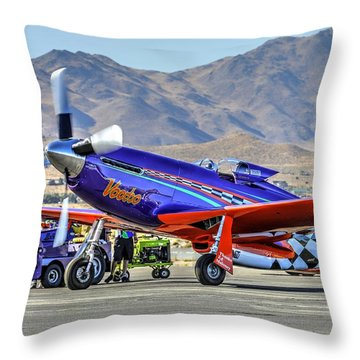 A Closer Look At Voodoo Engine Start Sundays Unlimited Gold Race Throw Pillow