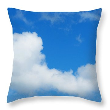 A Cloud For You Throw Pillow by Gwyn Newcombe