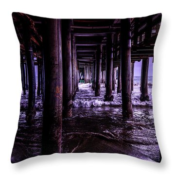 A Cloudy Day Under The Pier Throw Pillow