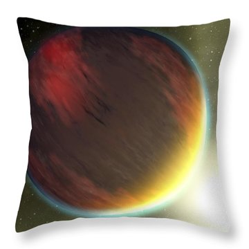A Cloudy Jupiter-like Planet That Throw Pillow by Stocktrek Images