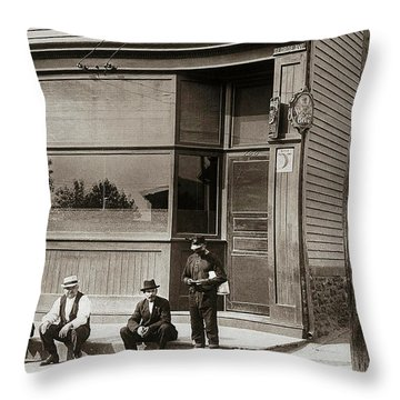 A Coal Miners Bar  George Ave Parsons Pennsylvania Early 1900s Throw Pillow