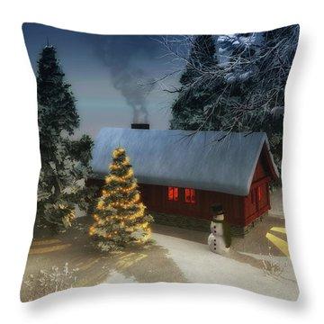 A Cold Winter Throw Pillow