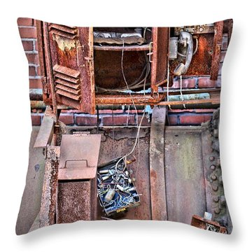 Throw Pillow featuring the photograph A Collaboration Of Rust by DJ Florek