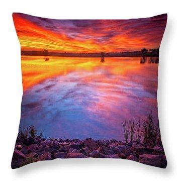 A Colorado Birthday Sunrise Throw Pillow