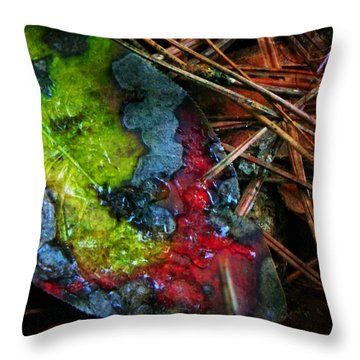 A Colorful Death Throw Pillow
