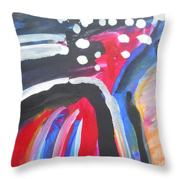 A Colorful Path Throw Pillow