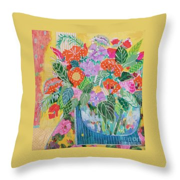 A Colorful Still Life Throw Pillow