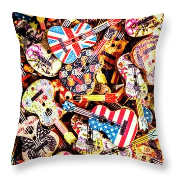 A Colour Instrumental Throw Pillow
