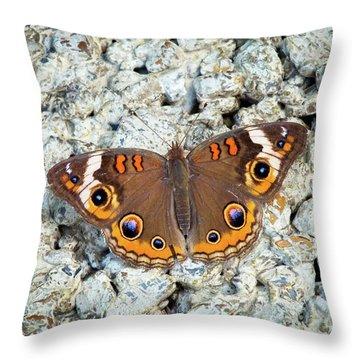 A Common Buckeye Throw Pillow