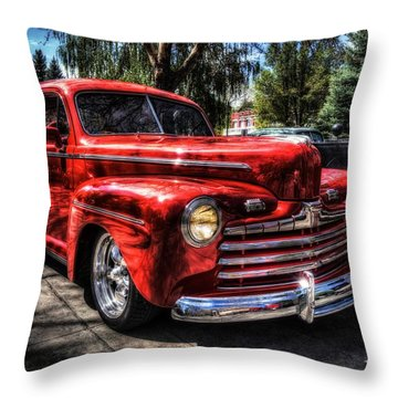 A Cool 46 Ford Coupe Throw Pillow