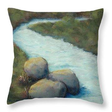 A Cool Dip Throw Pillow