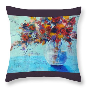 A Cool Spot Throw Pillow by Becky Chappell