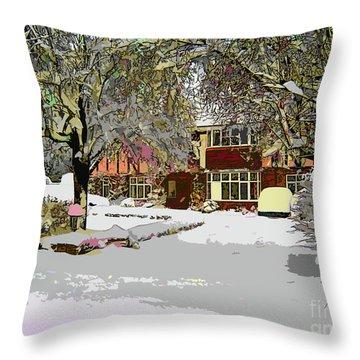 A Cosy Home Throw Pillow
