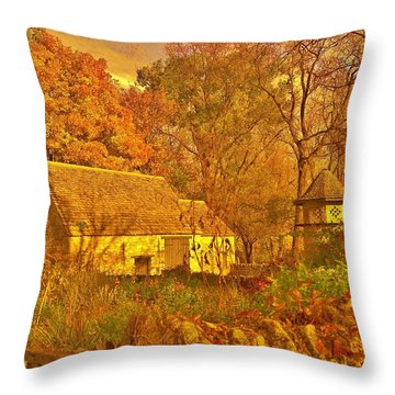 A Cotswald Fall  Throw Pillow by Daniel Thompson