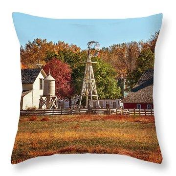 A Country Autumn Throw Pillow