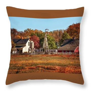 A Country Autumn Throw Pillow