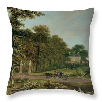 A Country House Throw Pillow by J Hackaert