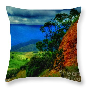 A Country Mile Throw Pillow by Blair Stuart