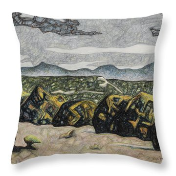 A Couple Of Clouds Throw Pillow by Dale Beckman