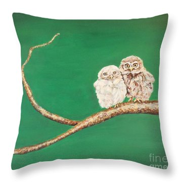 A Couple Of Owls Throw Pillow