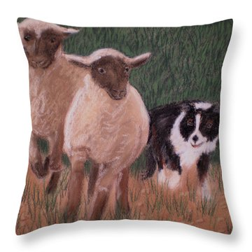 A Couple Of Strays Throw Pillow by Jan Amiss