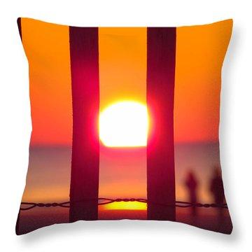 A Couple's Sunrise Throw Pillow by Nikki McInnes